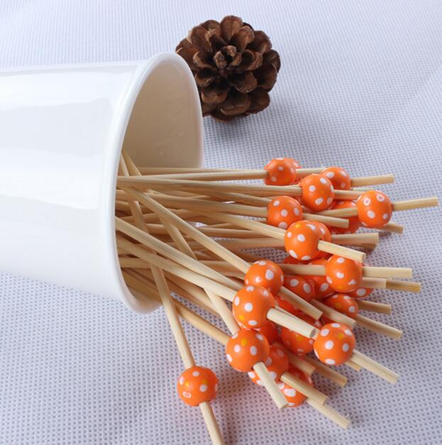 Bamboo bead skewer