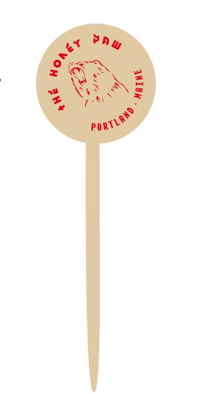 Hot stamp printed stirrer