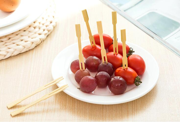 Fruit bamboo forks