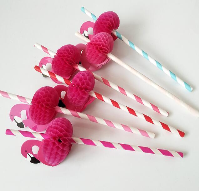 Flamingo straw